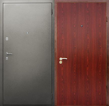 металлические двери порошок и ламинат