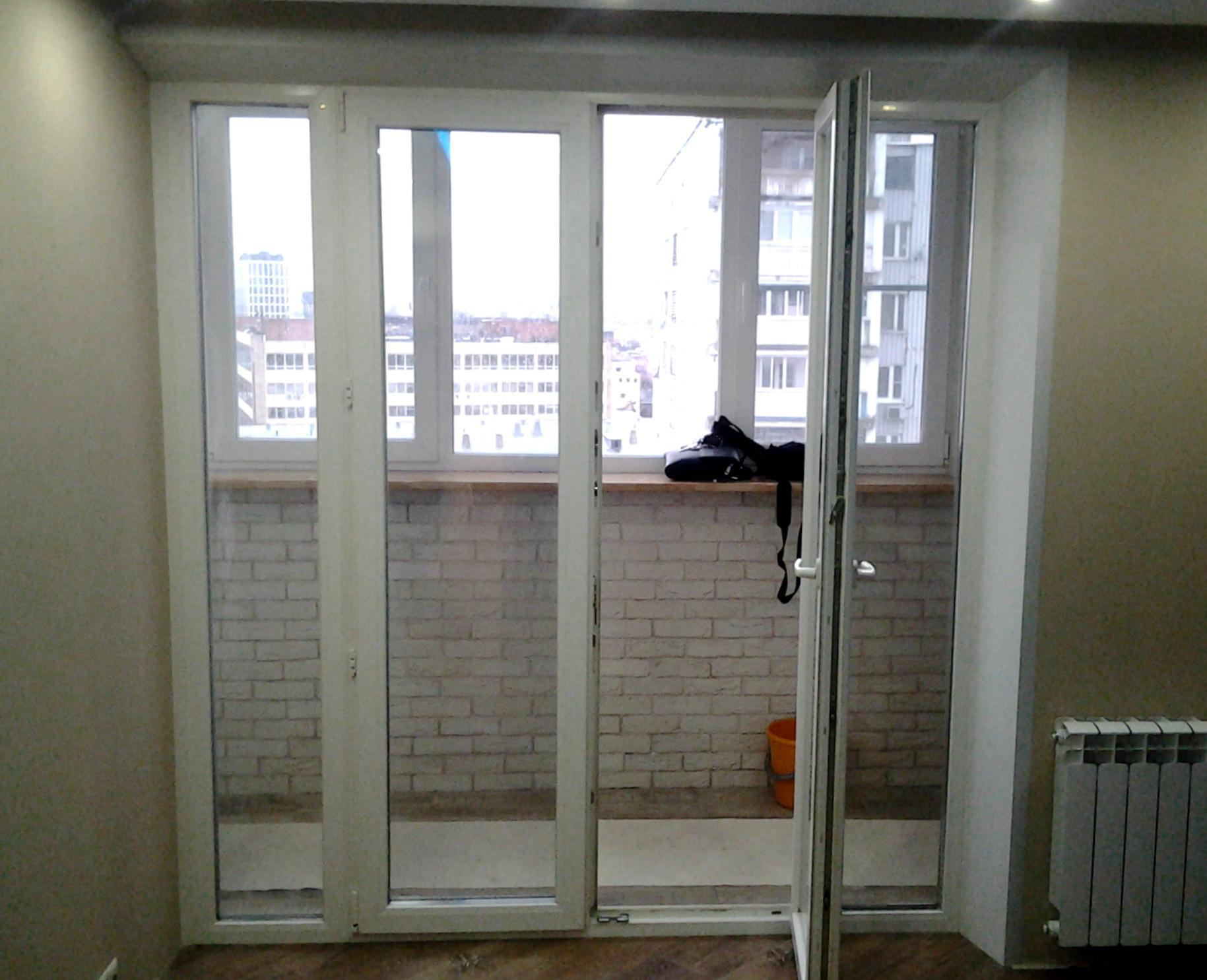 Штульповая балконная дверь.