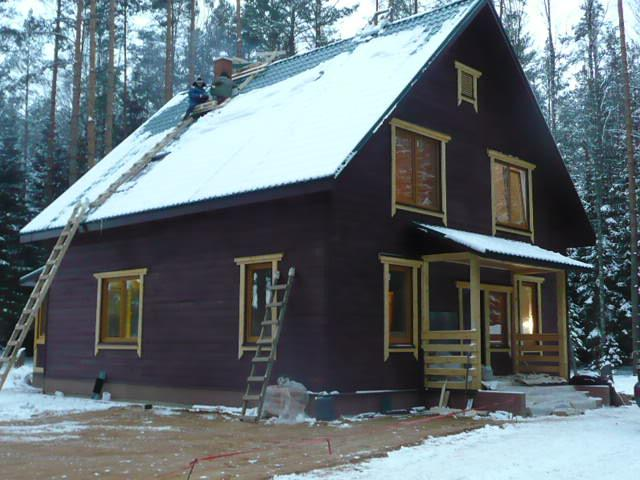 Дом под ключ 12000р/м2. Сборно-щитовые деревянные дома по финской