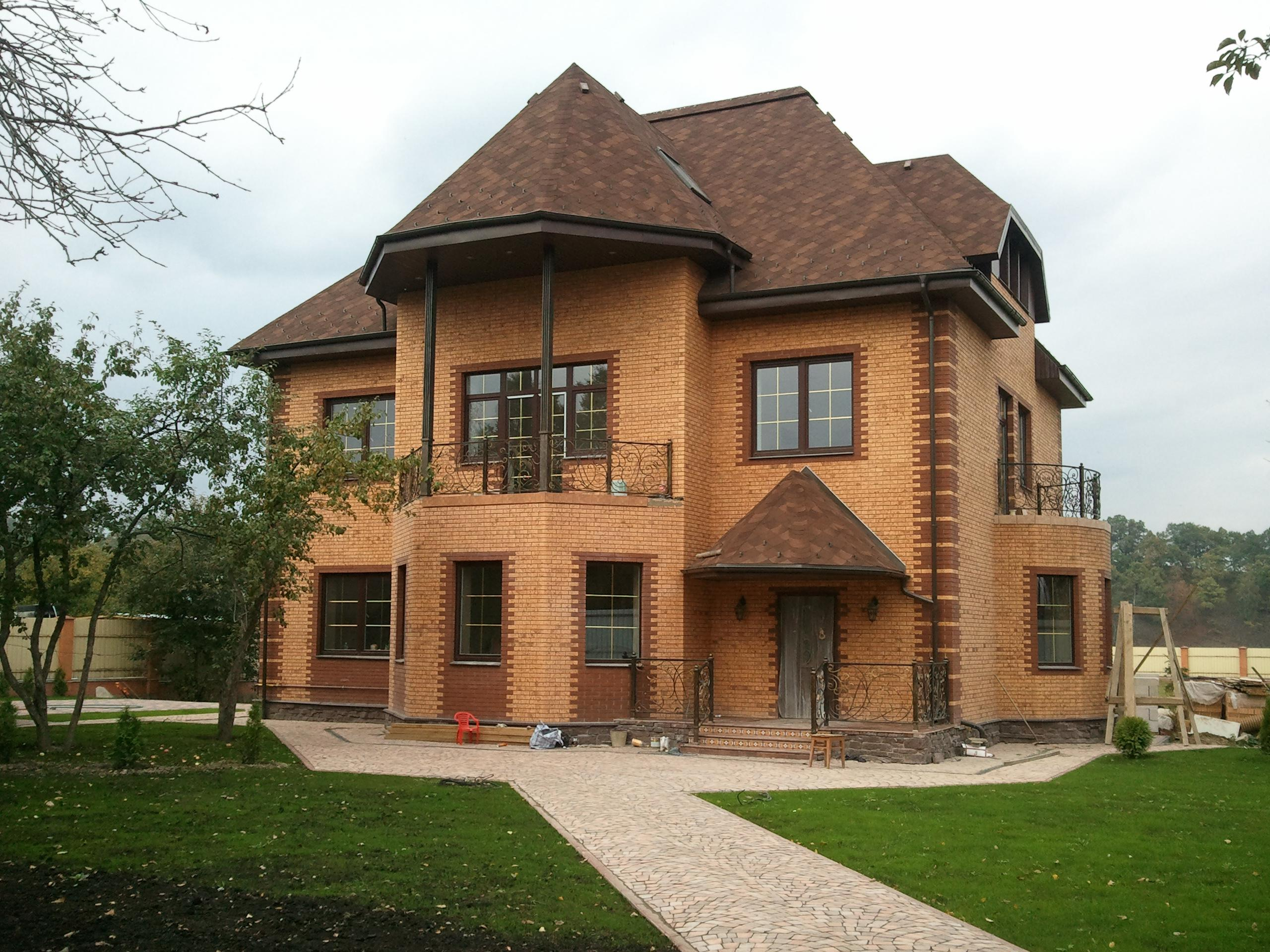 Дизайны домов снаружи из кирпича