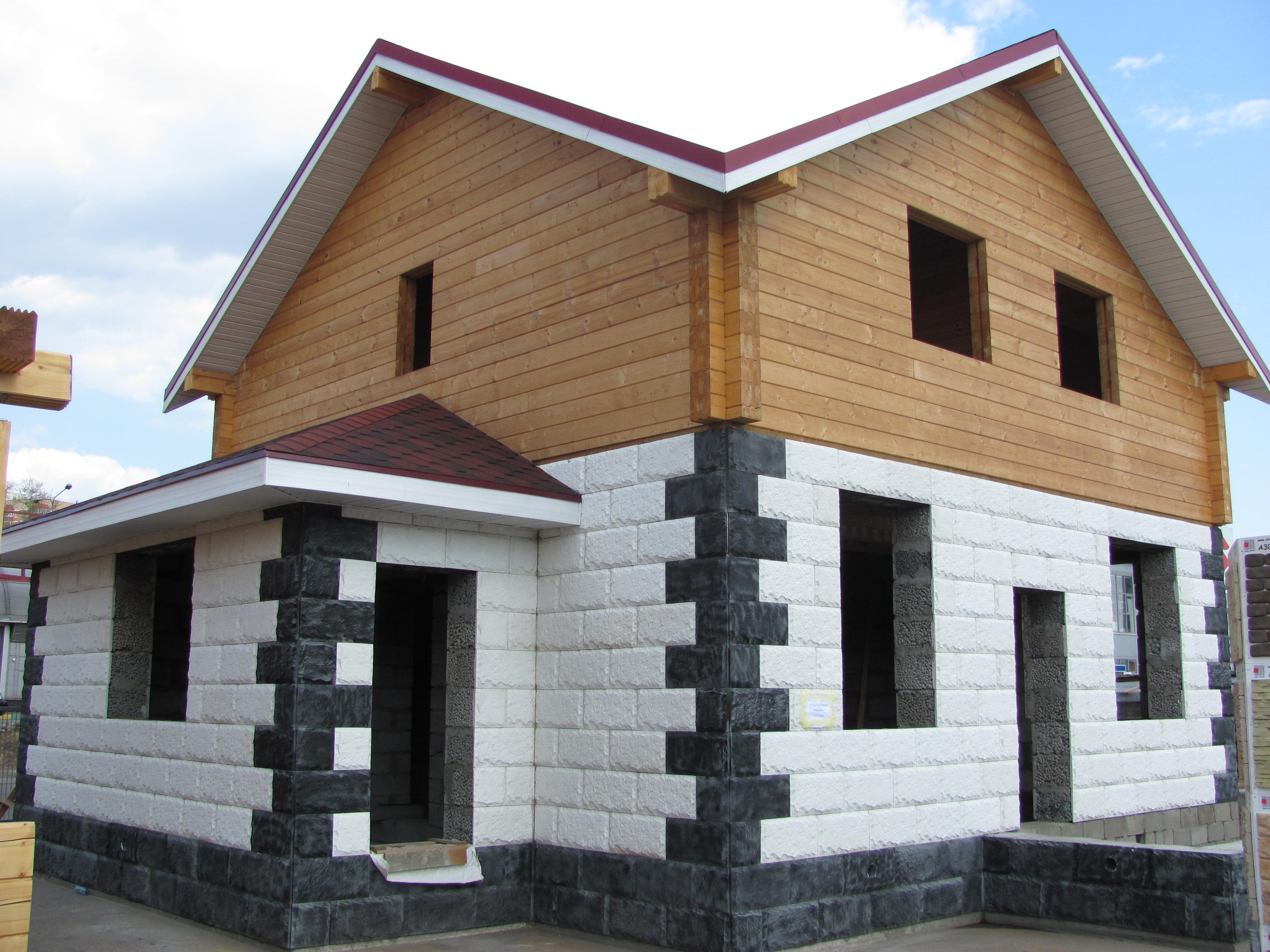 Готовые срубы домов из бруса цены, стоимость метра мягкой кровли