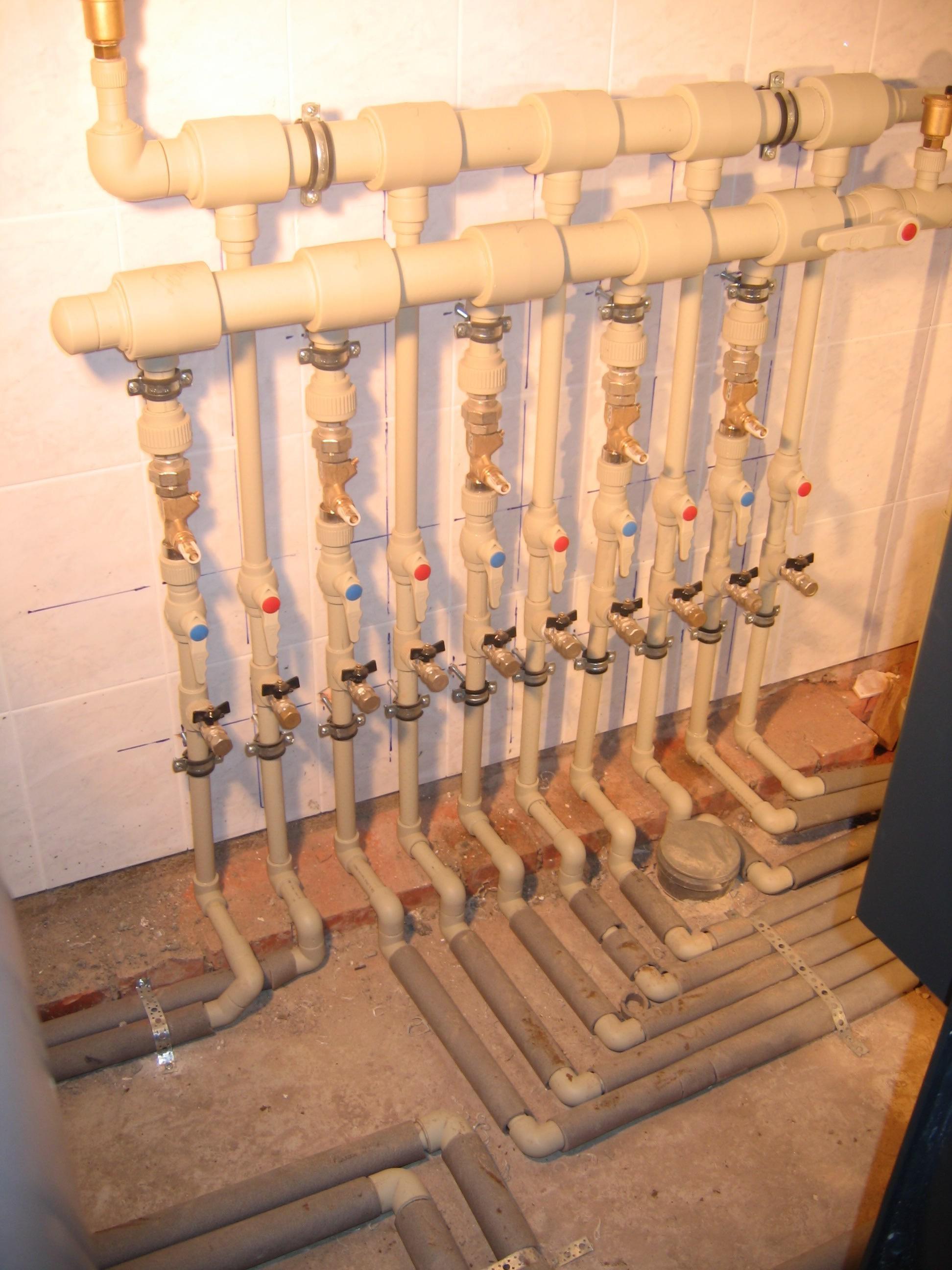 Схема отопление пластиковых труб фото