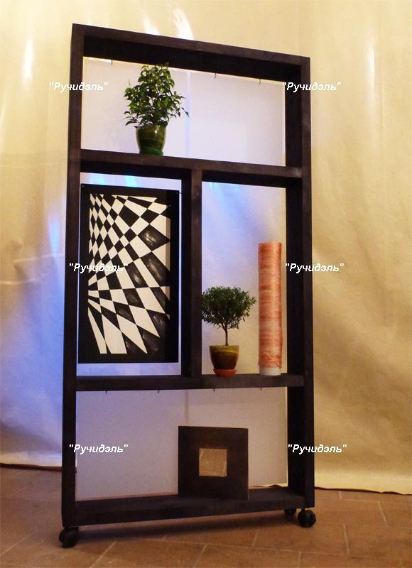 Полки перегородки для зонирования комнаты фото
