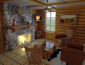 Внутренняя отделка дома - камин и оформление