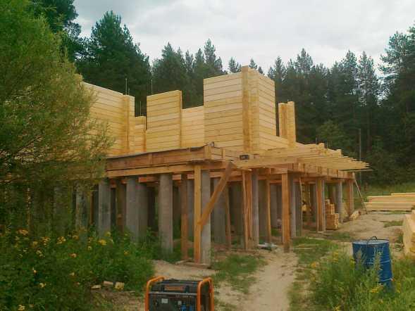 Строительство фундамента дома на