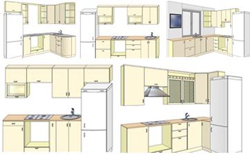 Расстановка мебели в малогабаритной кухне